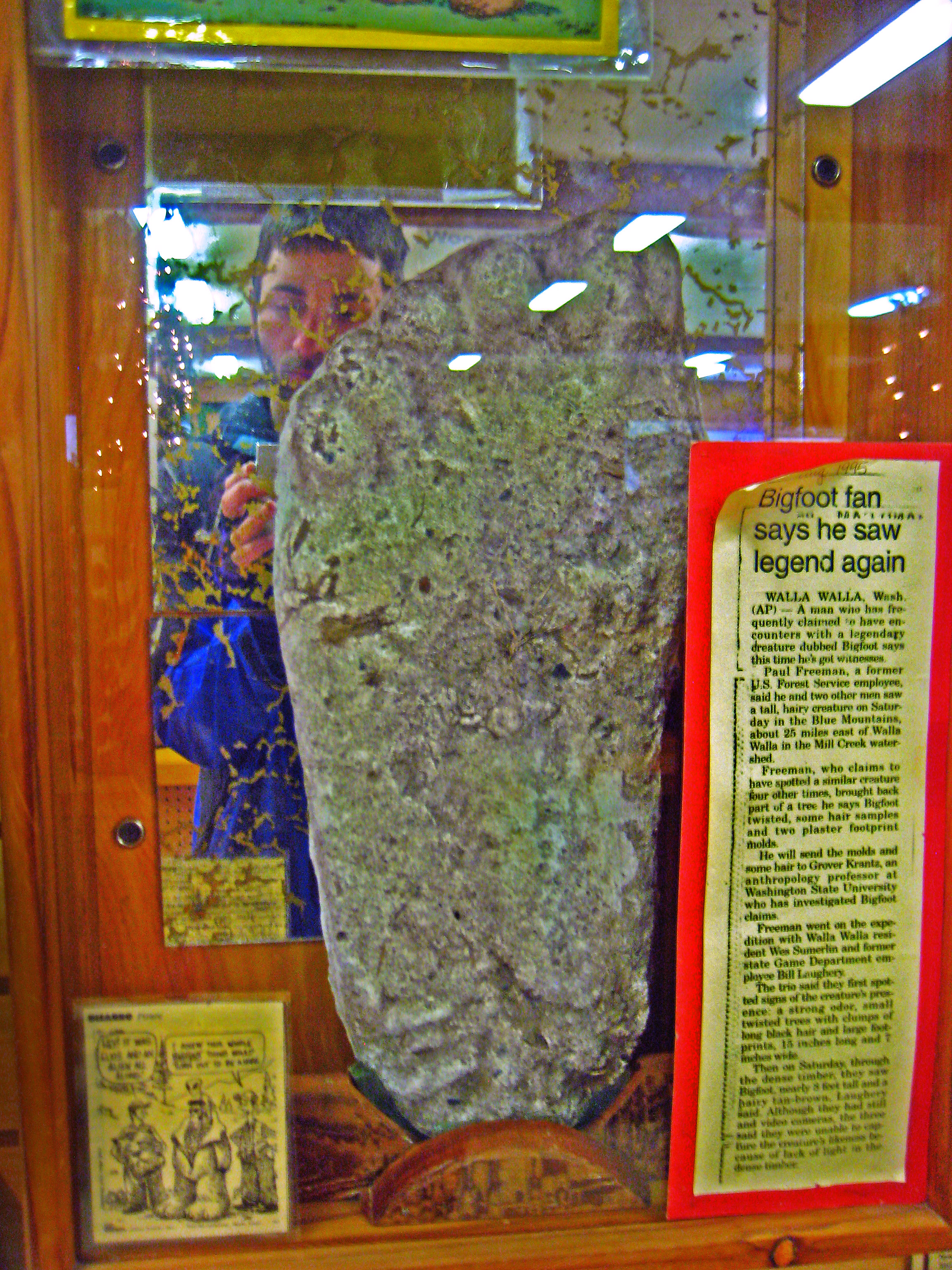 Part of the Trees of Mystery Museum, Bigfoot's Foot.