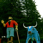 Paul Bunyon and his Blue Ox