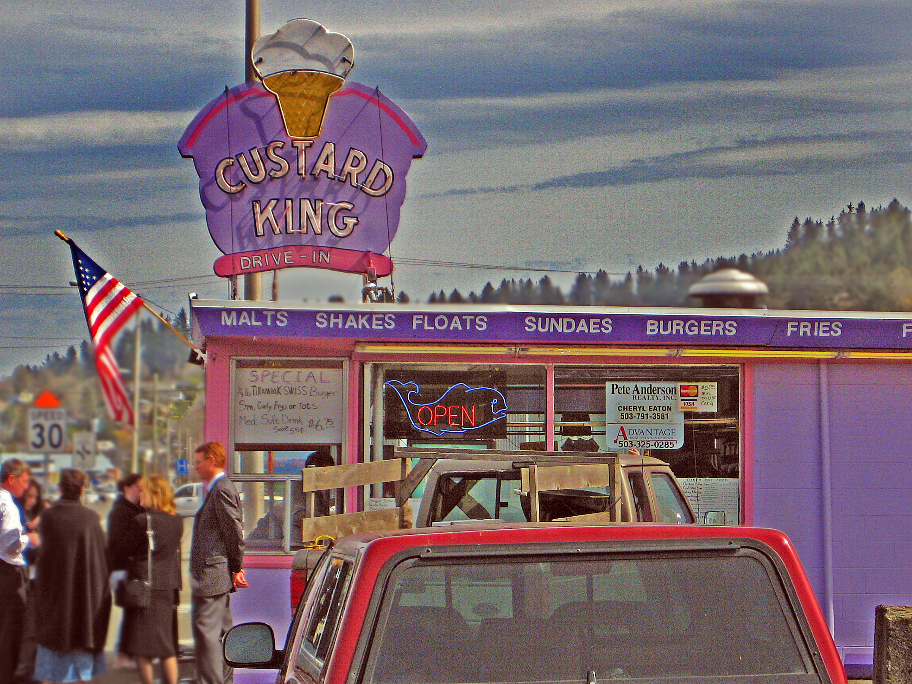 The famous Custard King, in Astoria, Oregon, 2010.