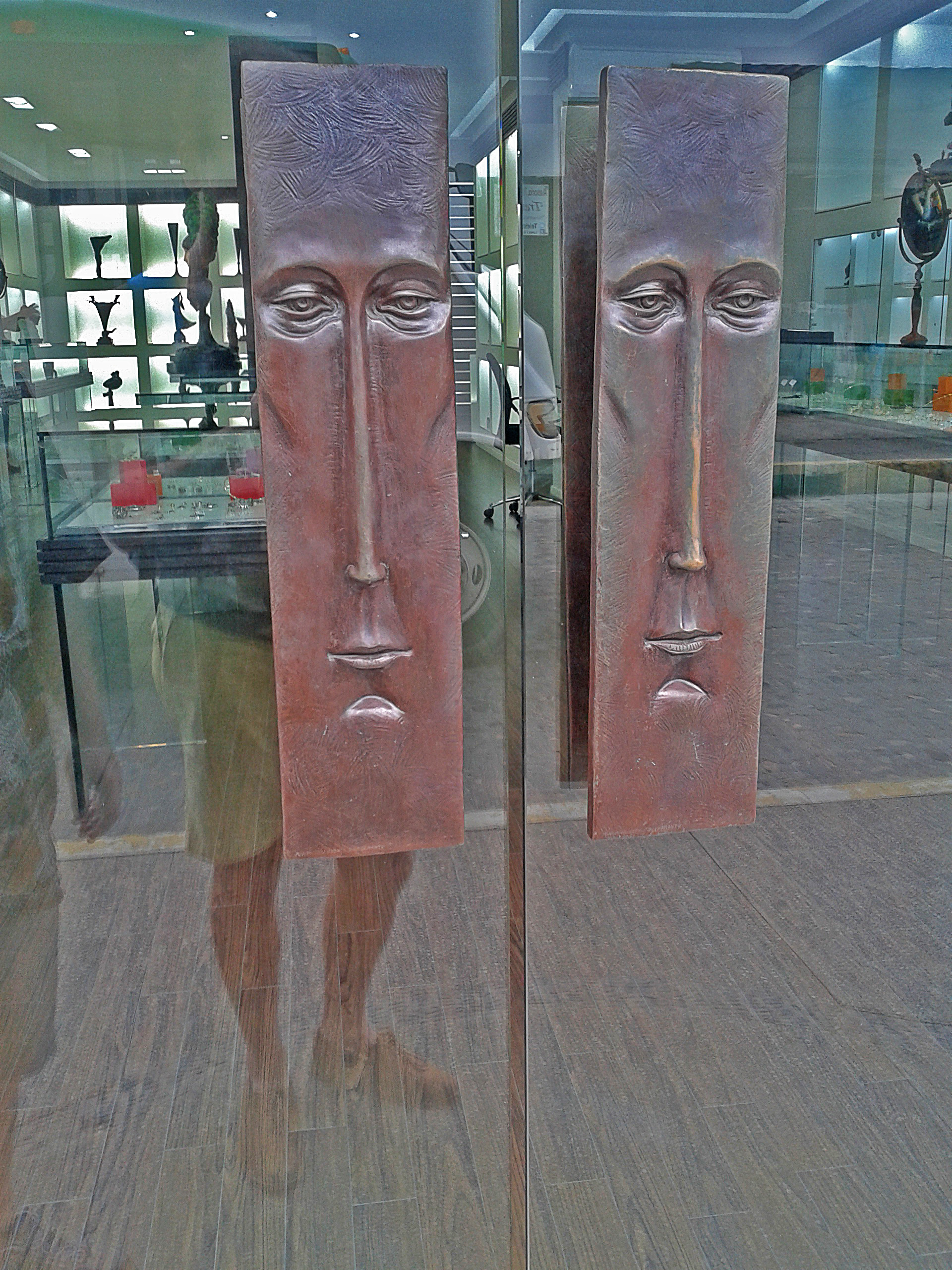 Door handles for Bustamante's store