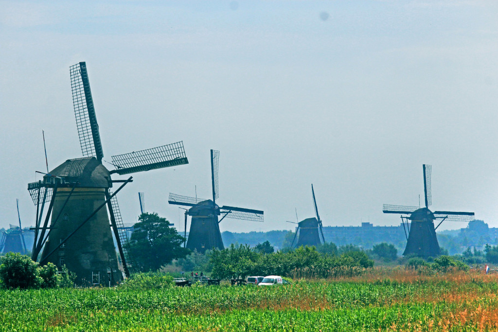 Kinderdijk, UNESCO windmills in the Netherlands.
