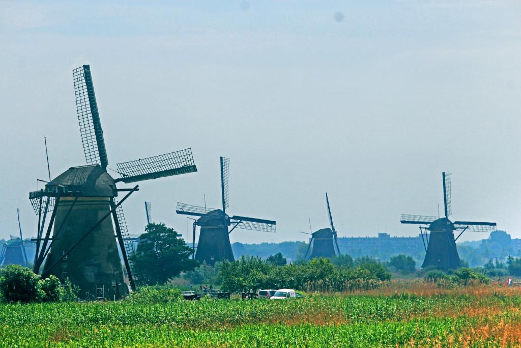 Kinderdijk, UNESCO windmills in the Netherlands.