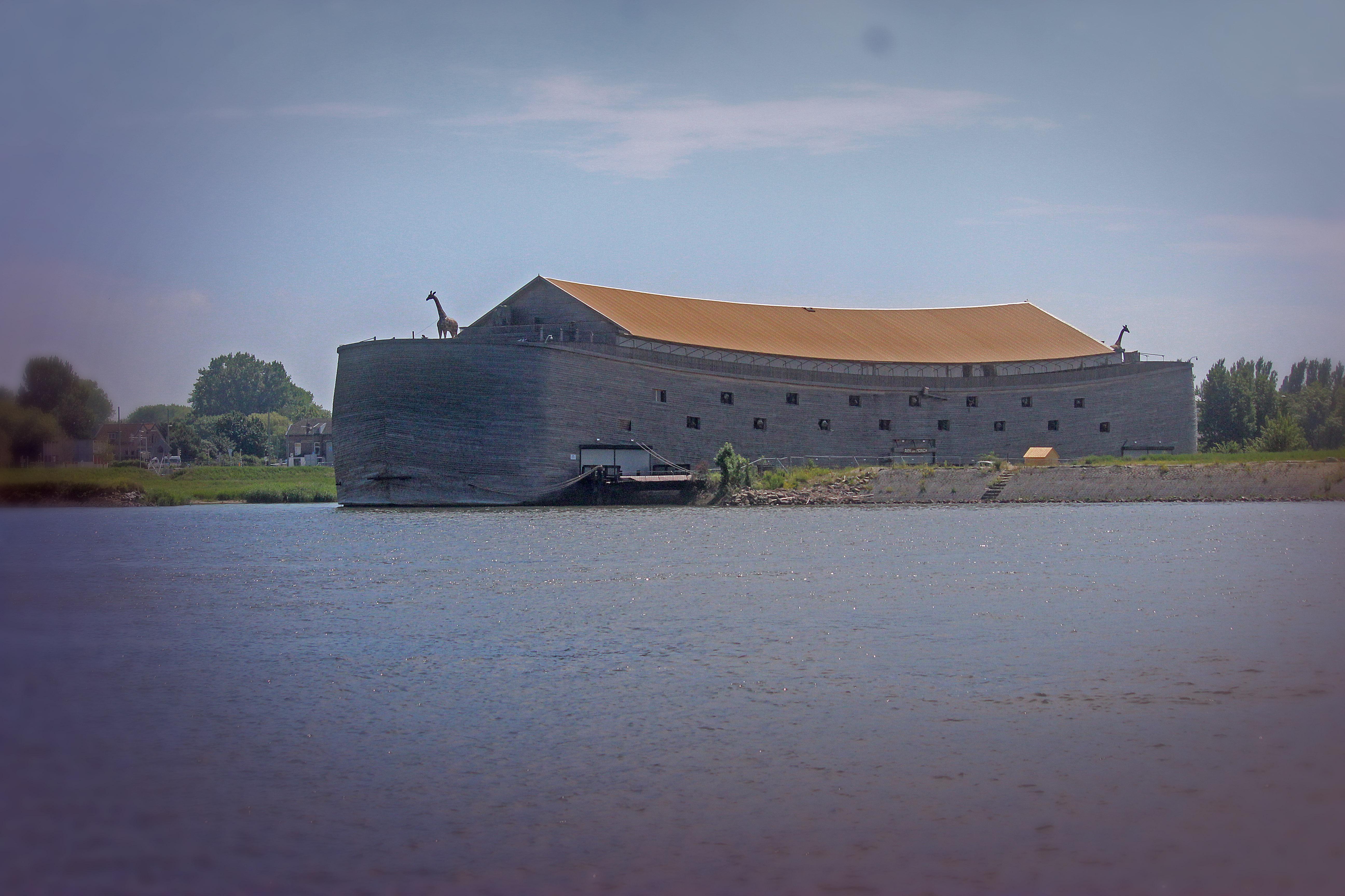 Some crazy dude rebuilt Noah's Ark in Dordrecht, Netherlands.
