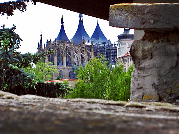 St. Barbara's Church, Kutna Hora. It is one of the most famous Gothic Churches in Central Europe and is recognized as a UNESCO Heritage Sight, yet is over shadowed by Kutna Hora's main attraction, the bone church.