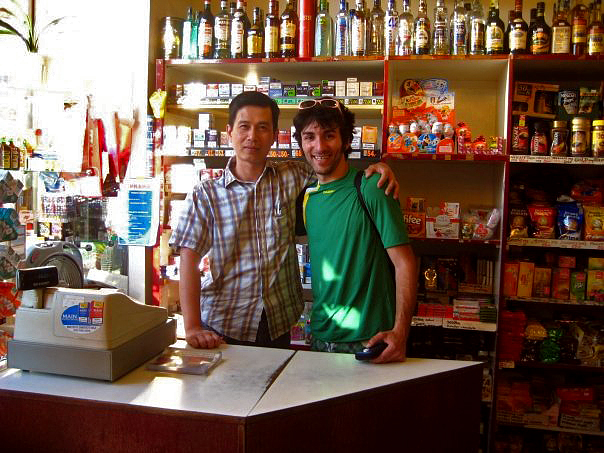 The shop owner near my Prague home in Vysherad in 2008.