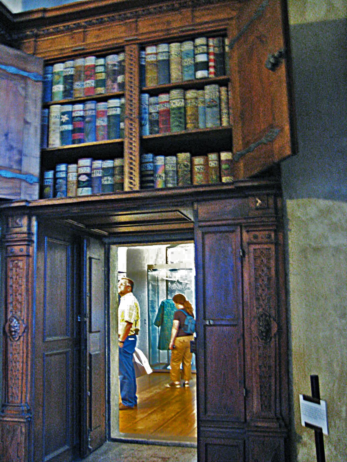 Bookcase door, Prague Castle