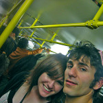 Friend and I on Prague metro
