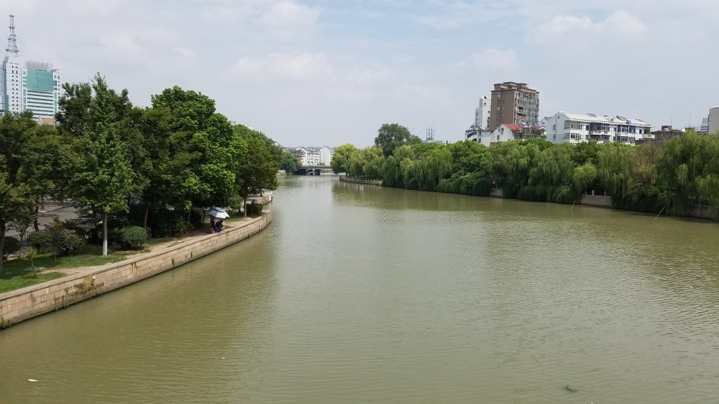 one of the many canals in Jiaxing.